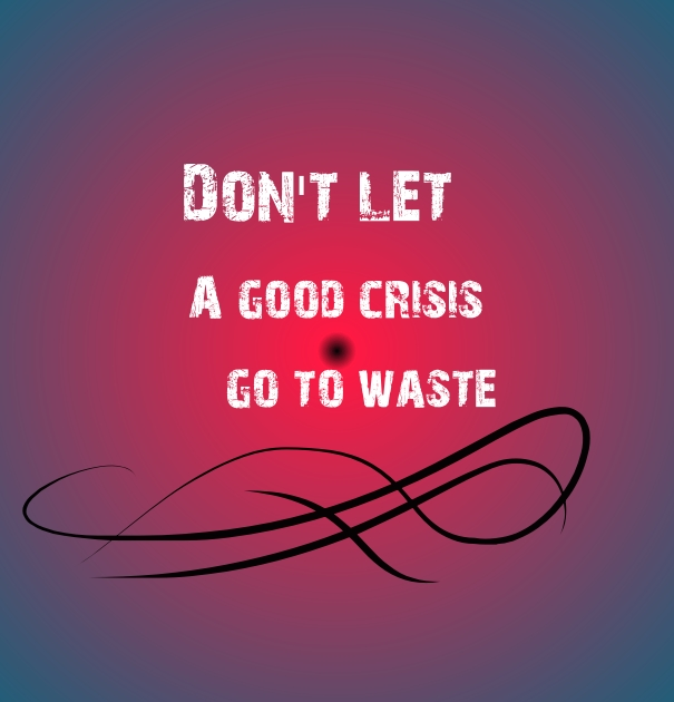 Don't Let a Good Crisis Go to Waste